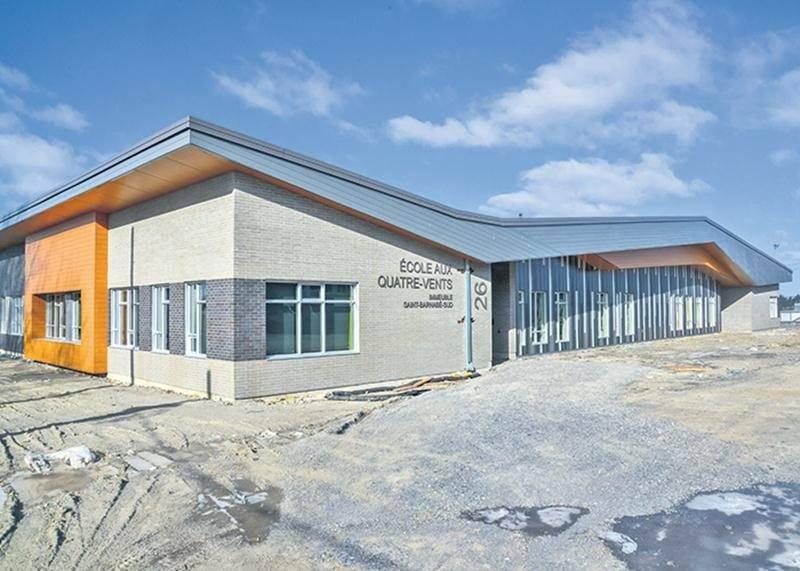 La nouvelle école flambant neuve de Saint-Barnabé, l'un des projets majeurs réalisés récemment sur le territoire de la Commission scolaire de Saint-Hyacinthe.