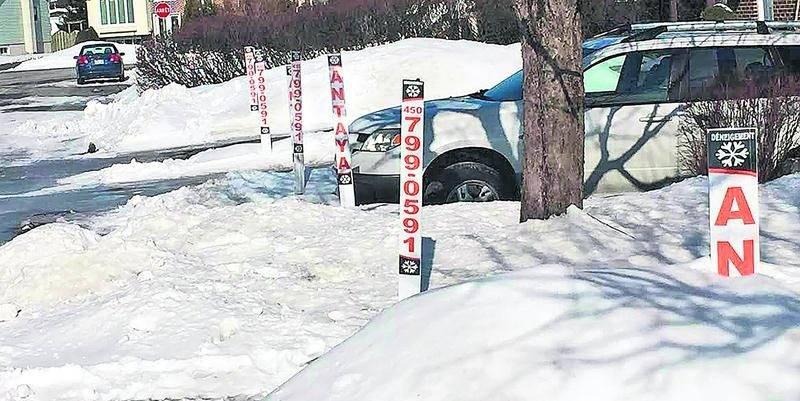 Les balises de déneigement sont maintenant réglementées à Saint-Hyacinthe.