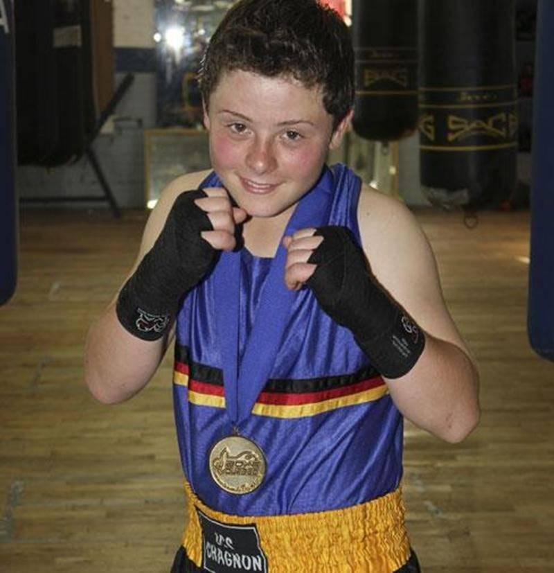Tommy Dussault, boxeur des Apprentis Champions.