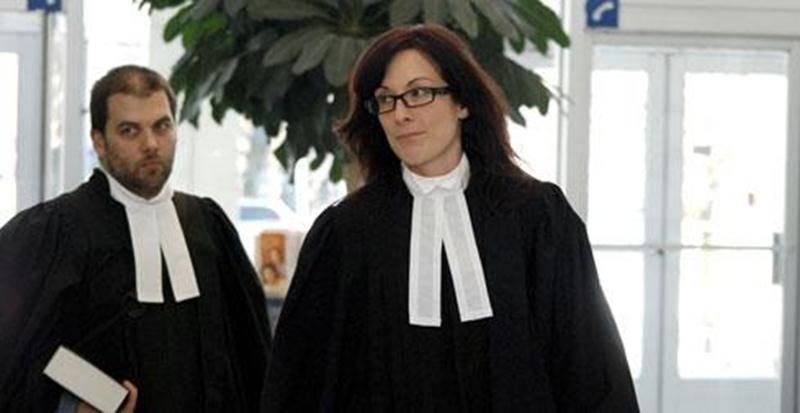 La procureure de la Couronne, Me Julie Laborde, et l'avocat de la défense, Me Marc-André Gauthier.