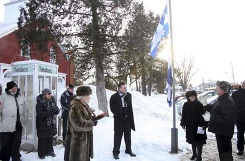 Une cérémonie en l'honneur du drapeau québécois s'est tenue à Saint-Jude ce lundi 21 janvier.