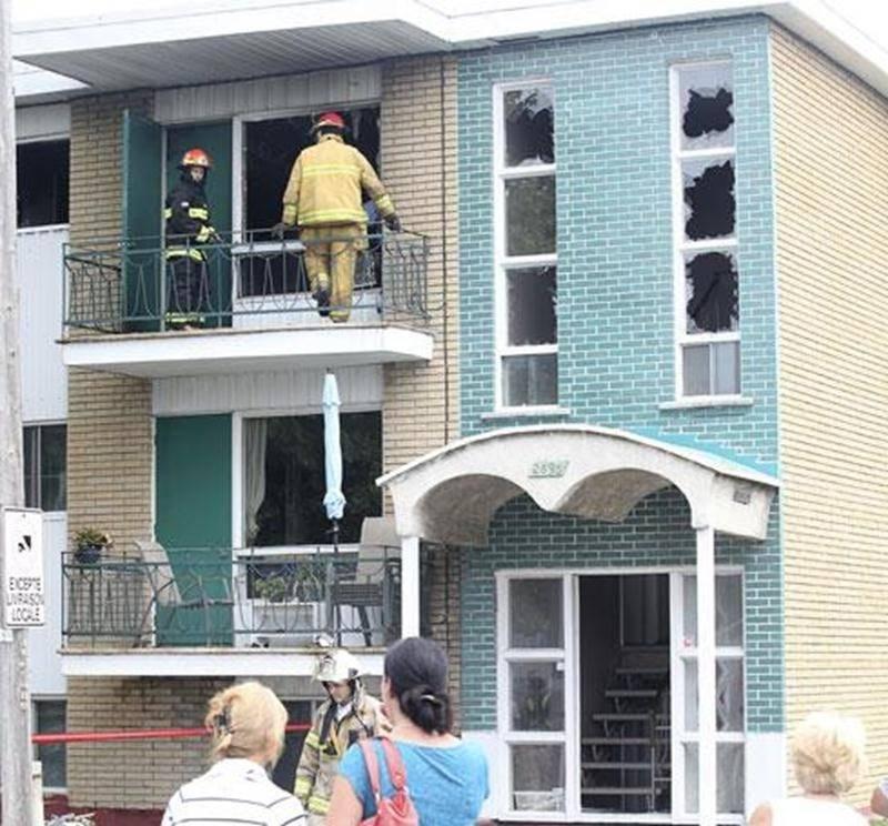 Une unité d'air conditionné est à l'origine d'un incendie survenu mardi après-midi, sur la rue Cherrier.