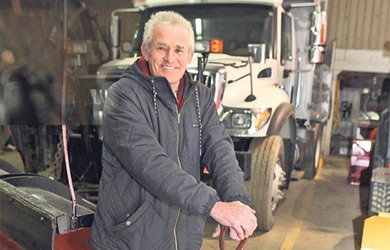 Claude Hébert, 50 ans au garage municipal