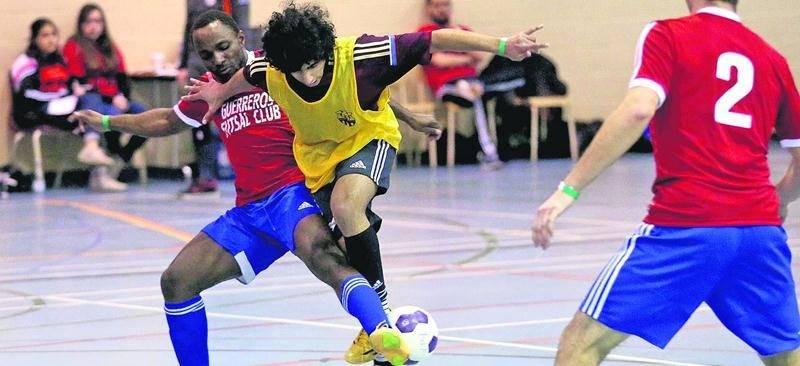 Le Défi Futsal a vu défiler une cinquantaine d'équipes lors des deux journées de compétition les 27 et 28 février à Saint-Hyacinthe.  Photo Robert Gosselin | Le Courrier ©