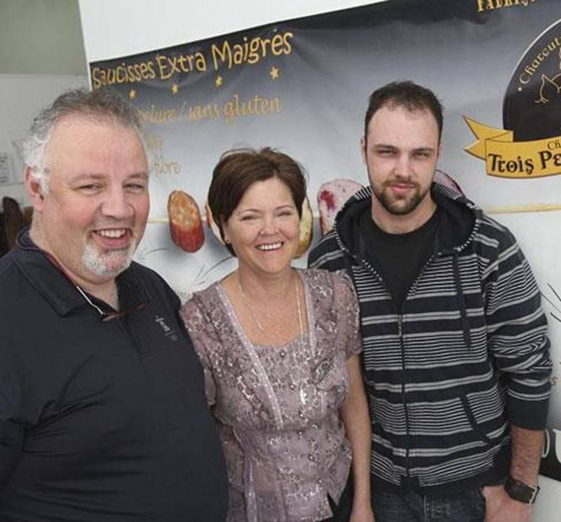Didier Tourret, Noëlla Lussier et leur fils Gérémie