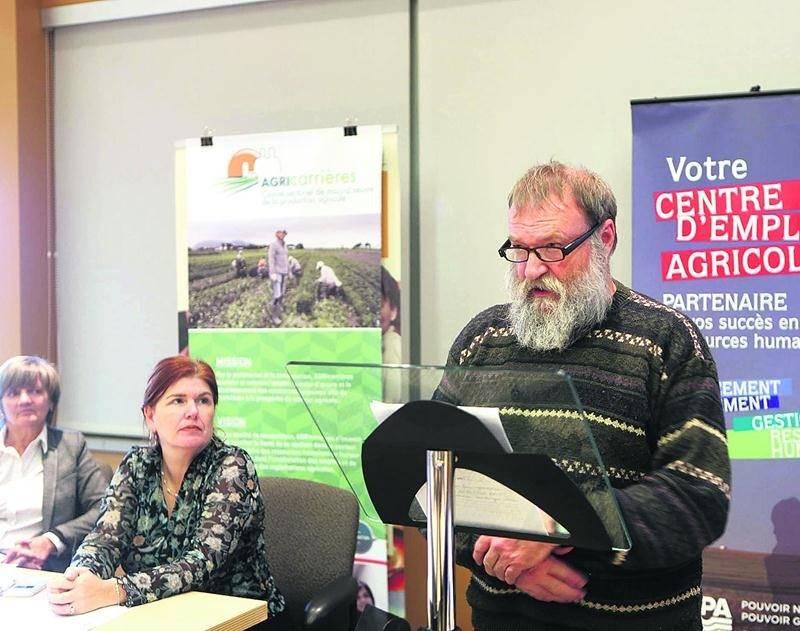 André Mousseau, vice-président d'AGRIcarrières. Photo Robert Gosselin | Le Courrier ©