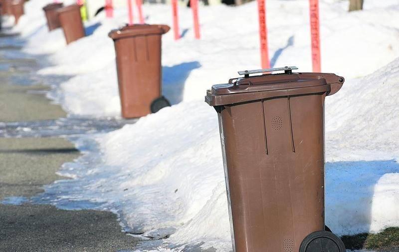 La Ville doit trouver une solution pour que les matières organiques des bacs bruns puissent être traitées au CVMO, avec les branches qu'on y retrouve. Photo François Larivière | Le Courrier ©