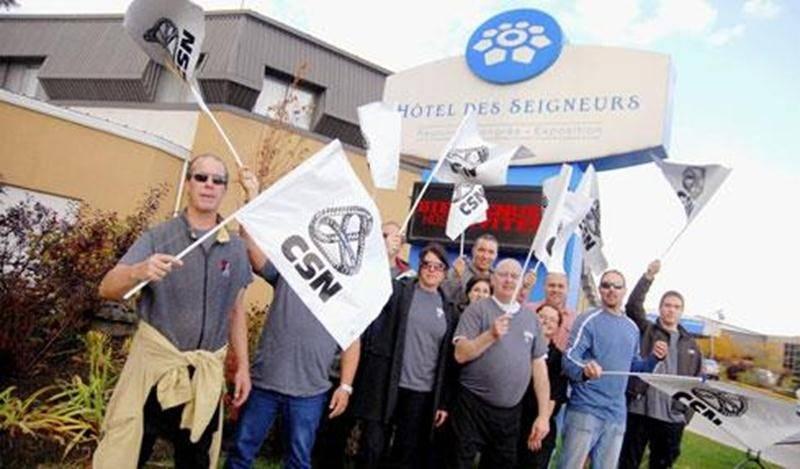 Grève-surprise de 24 heures des 180 employés de l'Hôtel des Seigneurs de Saint-Hyacinthe, samedi matin.