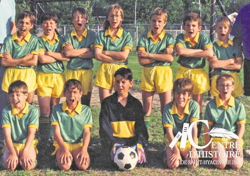 Équipe soccer U11-1992, CH380. Collection Centre d'histoire de Saint-Hyacinthe.