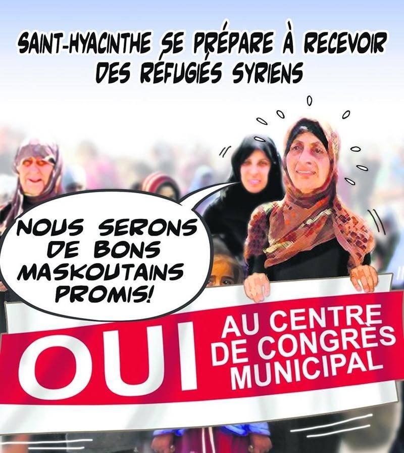 Pendant que se déroule l'opération charme en vue de convaincre les Maskoutains de financer la construction d'un centre de congrès municipal, on apprend que Saint-Hyacinthe est l'une des villes québécoises qui servira de terre d'accueil aux réfugiés syriens. On en attend environ 70.