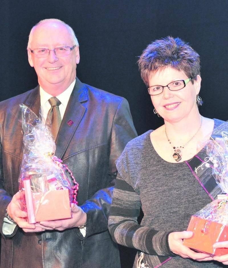 Pierre Piché et Josée Courteau ont reçu le prix Bénévoles exceptionnels lors de la soirée de reconnaissance de Centraide Richelieu-Yamaska.