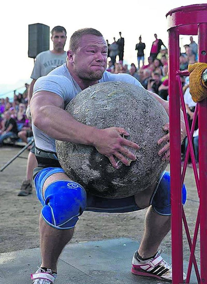 La pierre d'atlas sera l'une des cinq épreuves de la compétition.  Pierre Robinson/Expo de Saint-Hyacinthe
