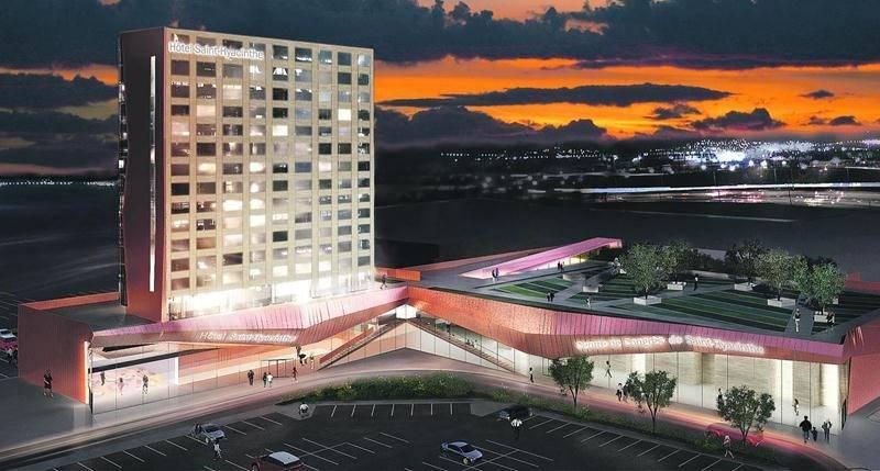 Maquette du futur centre de congrès municipal de Saint-Hyacinthe. Photothèque | Le Courrier ©