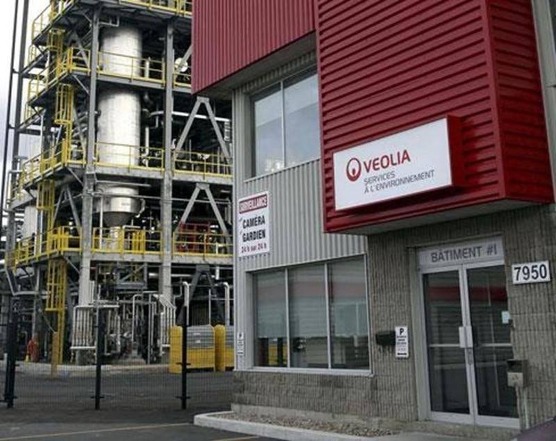 Le centre de régénération des huiles usées situé dans le parc industriel Théo-Phénix à Saint-Hyacinthe.