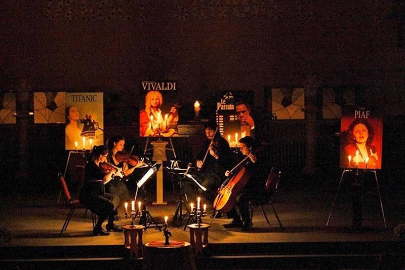 Le quatuor Ambitus présentera Les Quatres Saisons de Vivaldi ainsi qu'une sélection des meilleures musiques de films lors d'un concert aux chandelles à l'église Saint-Joseph le 13 avril.  Photo Courtoisie