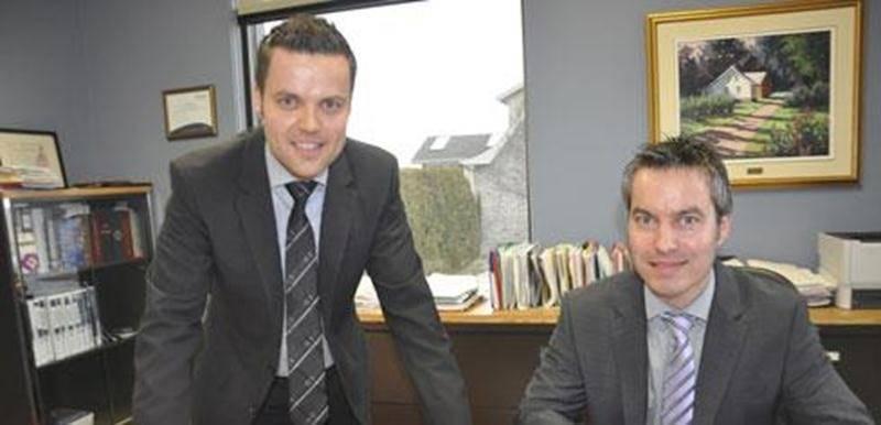 Jean-François et David Morin, deux des principaux associés (avec Bernard Jutras) de la firme Courtika, née du regroupement de trois cabinets d'assurance, dont deux à Upton.