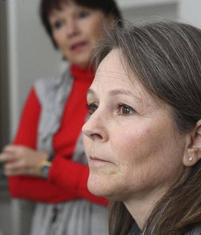 Christine Cayouette, présidente de l'Association de la fibromyalgie de Richelieu-Yamaska, et Diane Tanguay, cofondatrice.