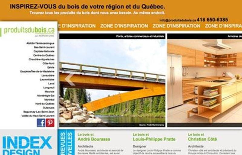 Produitsdubois.ca – Le Répertoire est une initiative d'envergure provinciale pour promouvoir les produits du bois du Québec.