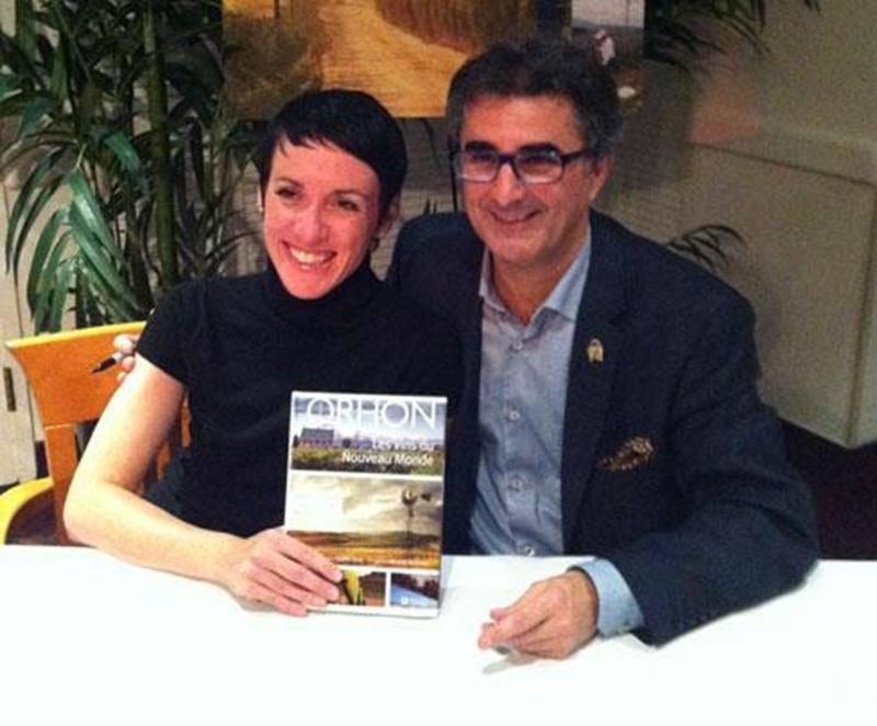 À l'ITHQ, en compagnie de Jacques Orhon, lors du lancement du livre Les vins du Nouveau-Monde – Amérique du Nord auquel j'ai collaboré à l'écriture.