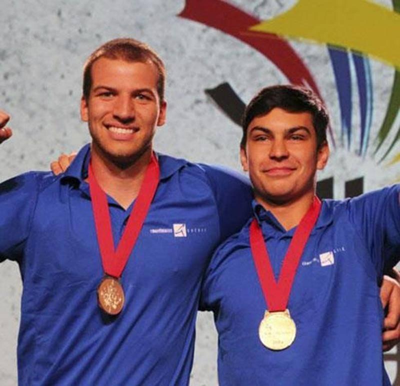 Gabriel Lévesque et Gabriel Tessier, de l'EPSH, ont décroché la médaille d'or aux Olympiades canadiennes à Toronto.