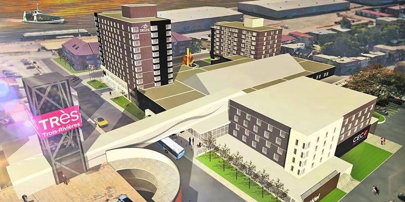 Un Centre d'événements et de congrès interactifs ainsi qu'un hôtel de 80 chambres sera construit à Trois-Rivières. IDEA Simplifico Inc.