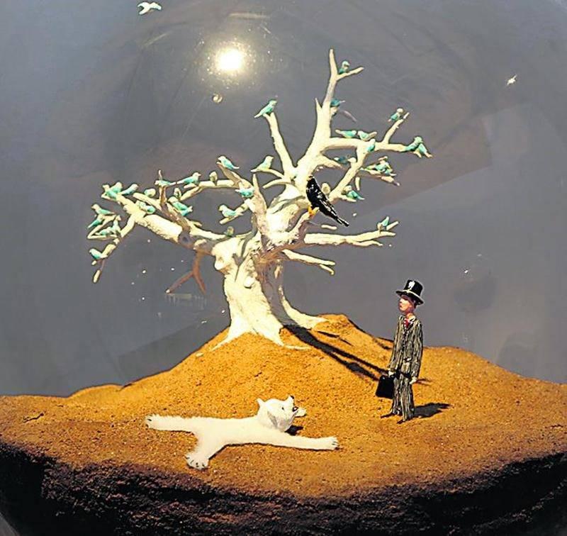Bulle de vie intitulée L'ours qui a vu l'homme. Une propriété du dragon Alexandre Taillefer. Photo Robert Gosselin | Le Courrier ©
