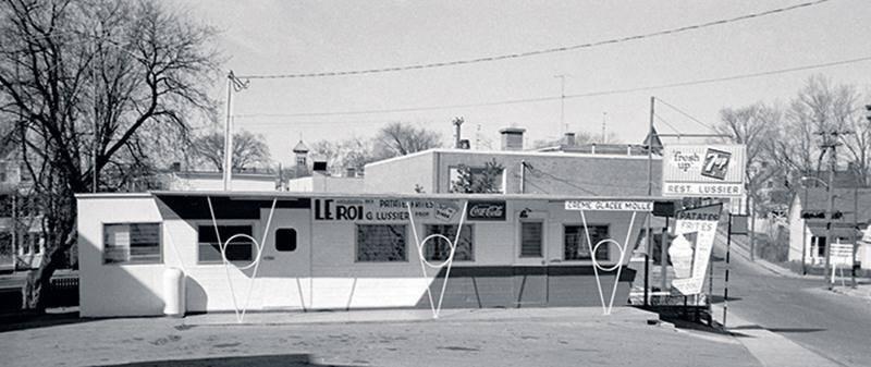 Le Restaurant Lussier en 1965.