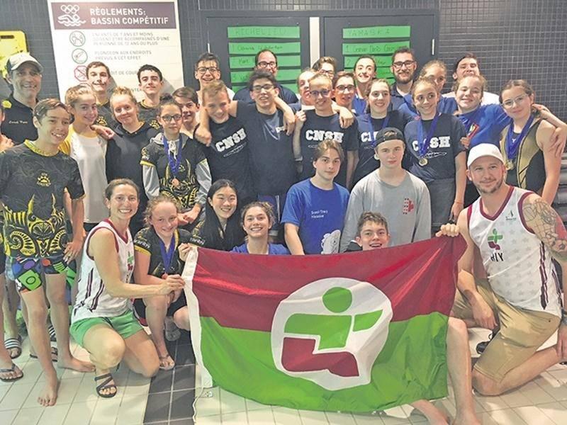 Plus de la moitié de la délégation de Richelieu-Yamaska en natation est affiliée au club de natation de Saint-Hyacinthe. Photo Courtoisie