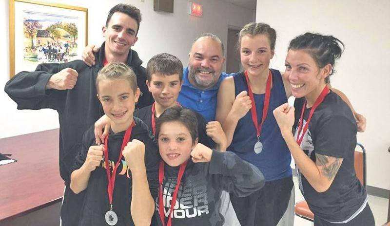 Pas moins de six boxeurs des Apprentis Champions étaient à l'œuvre samedi dernier à Ripon, en Outaouais. Photo Facebook