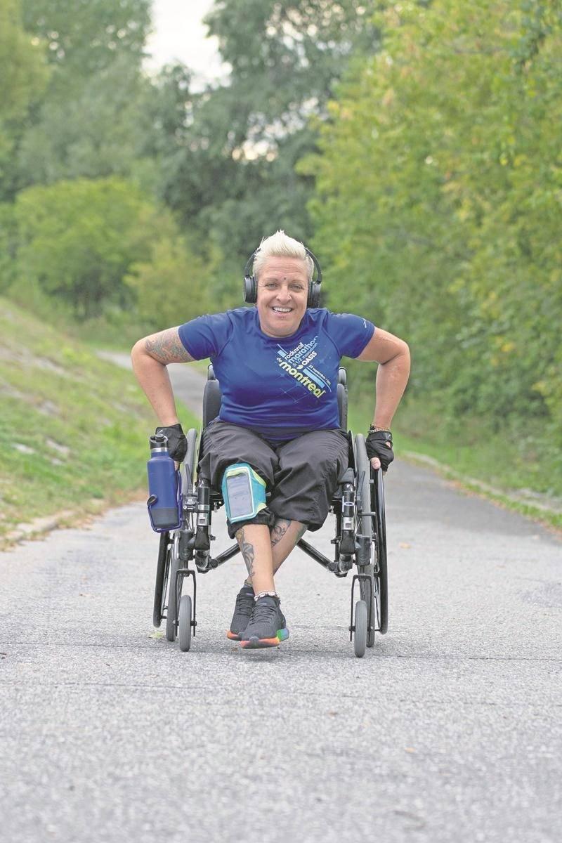 Jani Barré sera du départ du Marathon de Montréal pour la 7e fois dimanche. Après avoir complété le demi-marathon ces six dernières années, elle s'élancera cette fois pour le marathon. Photo Martin Lacasse