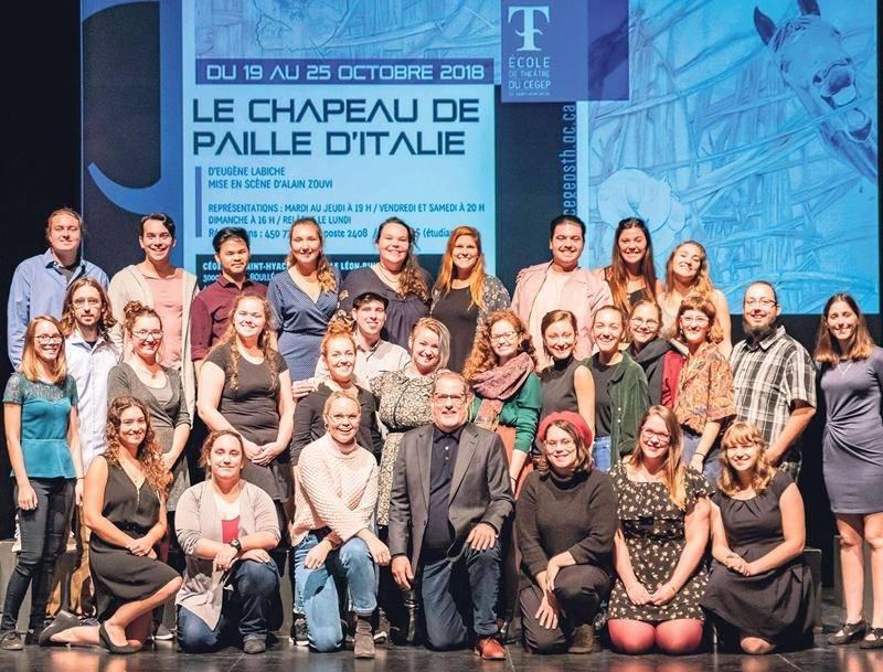 Les finissants de l'École de théâtre du Cégep de Saint-Hyacinthe présenteront au cours des prochains jours la première pièce de la saison, Le Chapeau de paille d'Italie, mise en scène par Alain Zouvi.   Photo Martin Lacasse