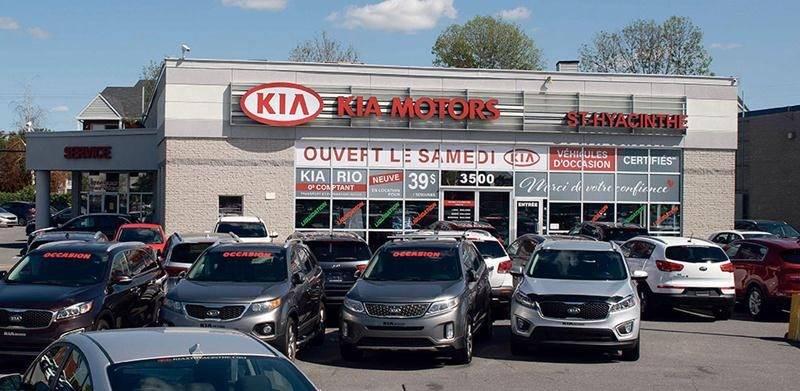 La concession Kia St-Hyacinthe, propriété du Groupe Lambert, va presque tripler de superficie en déménageant à l'automne 2019 sur la rue Johnson Est. Photo Martin Lacasse | Le Courrier ©