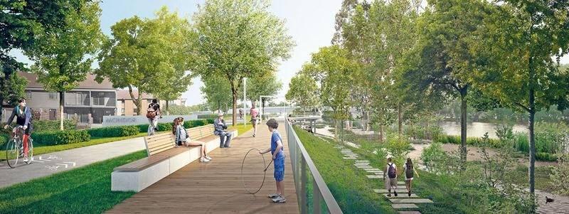 Pour le maire de Saint-Hyacinthe, le projet de réaménagement de la promenade Gérard-Côté est « l'élément déclencheur qui va insuffler un vent de dynamisme au centre-ville ». Daoust Lestage