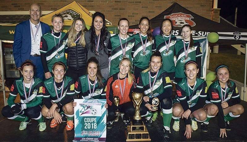 Le FC Saint-Hyacinthe senior féminin a été sacré champion des séries de la LIZ 2 en division Honneur. Photo courtoisie