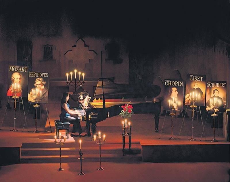 Un piano sous les chandelles