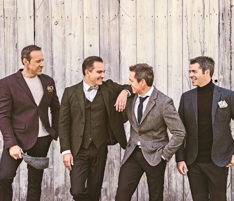 Le quatuor Tocadéo pigera dans ses deux albums des Fêtes, Noël et Meilleurs vœux, à l'occasion du spectacle qu'ils présenteront à l'église de Saint-Pie le 1er décembre. Photo courtoisie