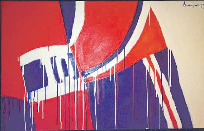 Un tableau de Serge Lemoyne, « No 10, Lafleur », sera en vente aux enchères de BYDealers, ce soir à Toronto. Sa valeur est estimée entre 90 000 $ et 120 000 $.