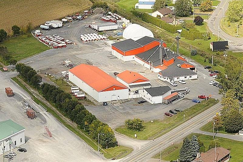 Les installations d'Agrocentre à Saint-Pie. Photo courtoisie Agrocentre