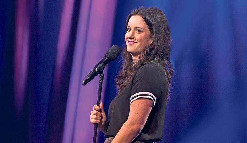 L'humoriste Virginie Fortin sera de passage au Centre des arts Juliette-Lassonde le 12 octobre avec son spectacle Le bruit du cosmos. Photo courtoisie