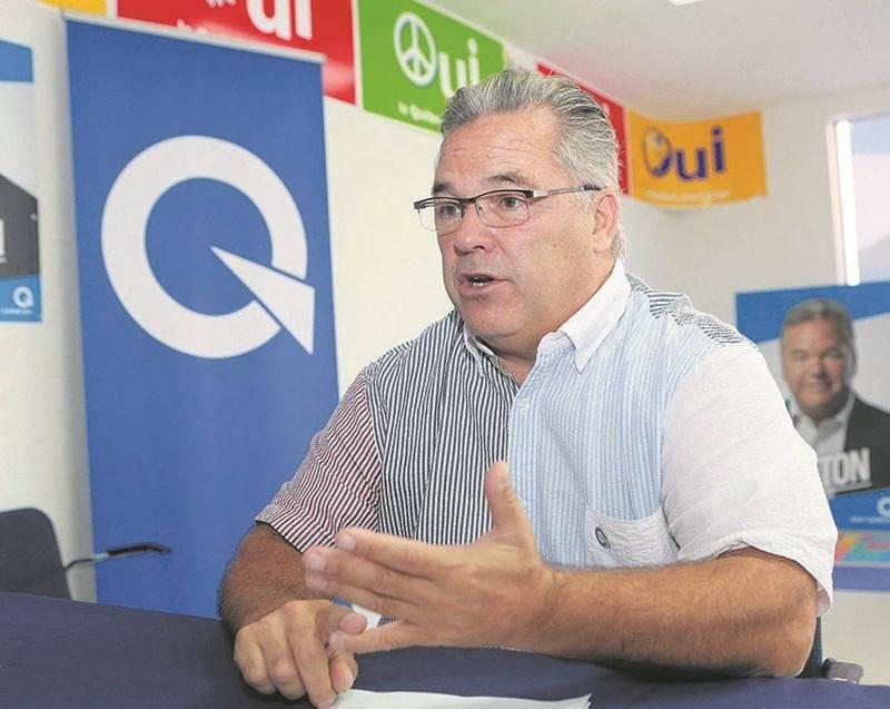Daniel Breton, candidat du Parti québécois dans Saint-Hyacinthe.  Photo Robert Gosselin | Le Courrier ©