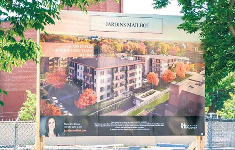 Le projet de complexe de 64 logements Les Jardins Mailhot est prévu pour 2019, dans le district Sacré-Cœur. Photo François Larivière | Le Courrier ©