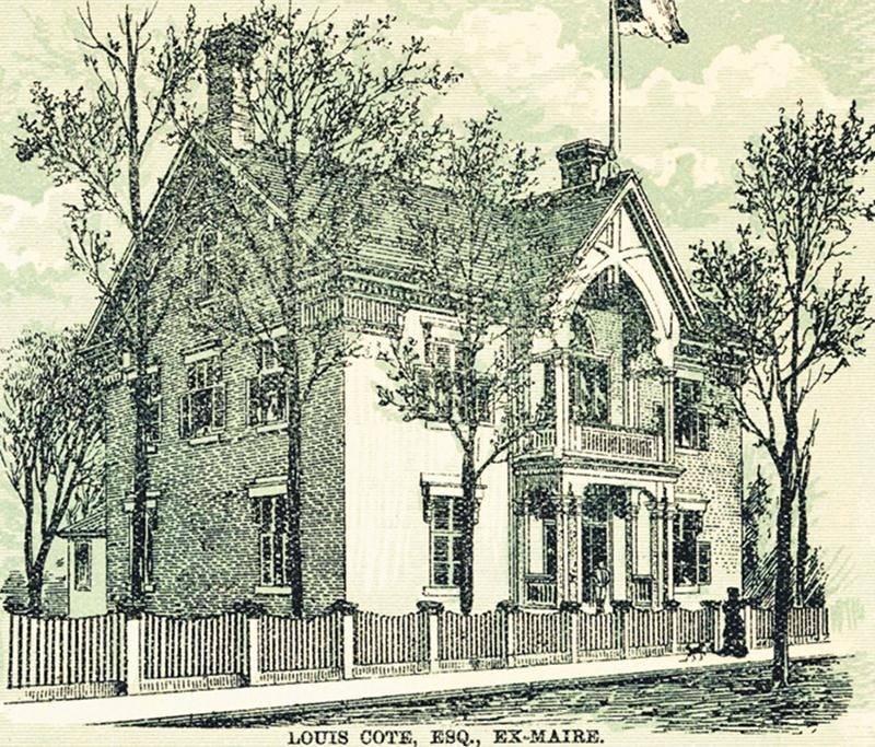 Maison de Louis Côté située à l'angle des rues Girouard et Sainte-Marie, 1886. Photo CHSTH