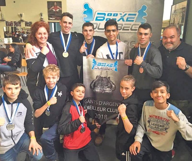 Grâce à sa relève florissante, l'école de boxe Les Apprentis Champions a été sacrée le meilleur club au terme des Gants d'argent. Photo courtoisie