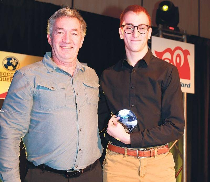 Jordan Lemay, du FC Saint-Hyacinthe U18 AA, a fait partie du « onze d'étoiles » de la Coupe des champions provinciaux AA. Photo Robert Gosselin | Le Courrier ©