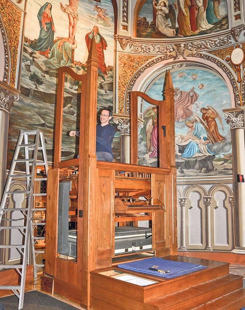 Depuis les dernières semaines, l'Opus 9 prend place au sein de la chapelle du monastère du Précieux-Sang. Photo François Larivière   Le Courrier ©