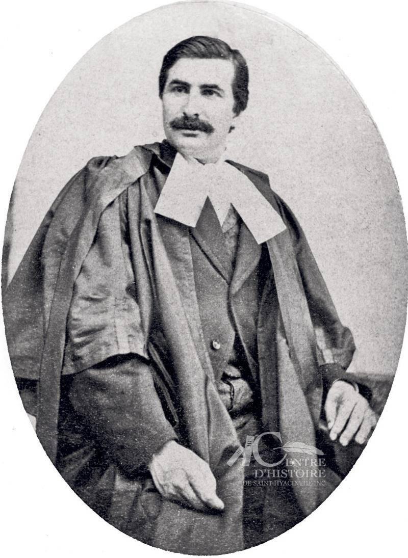Honoré Mercier, avocat à Saint-Hyacinthe de 1865 à 1881, photographié par Joseph-Jean-Elzéar Sauvageau en 1873. Collection Centre d'histoire de Saint-Hyacinthe, CH001
