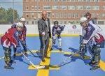 Le plateau de dek hockey inauguré