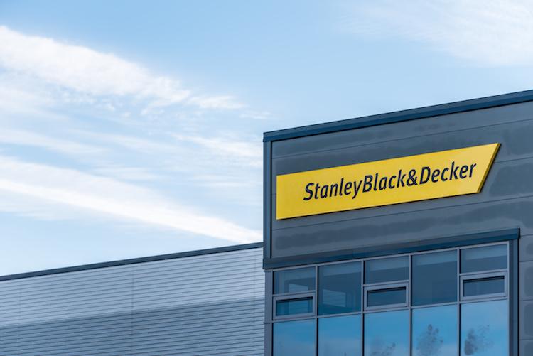 Northampton UK December 09, 2017: Stanley Black And Decker Builders Merchant logo sign in Brackmills Industrial Estate.