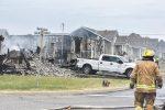 Trois maisons détruites par un violent incendie