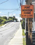 Le pont Morison fermé pour cinq semaines